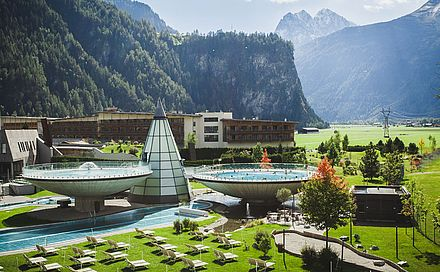 Wellnessen in der Aqua Dome Tirol Therme